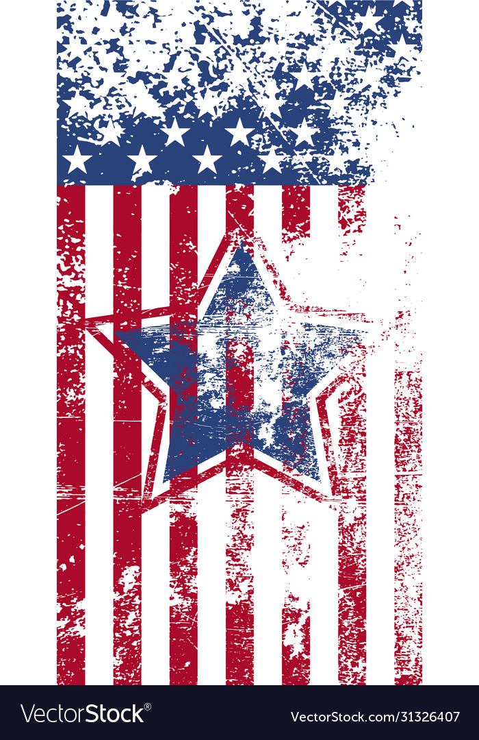 Greeting card happy independence day 4th july