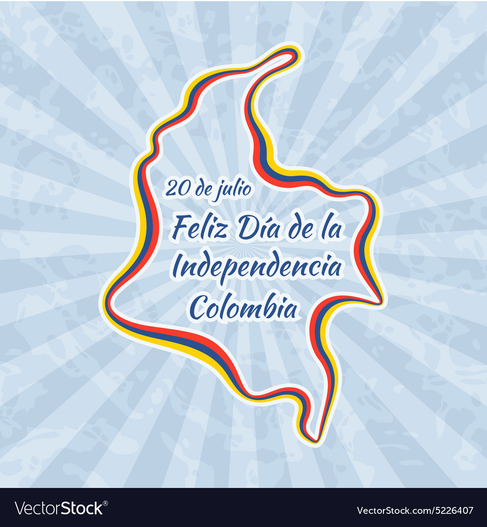 Happy Independence Day in Colombia vector image