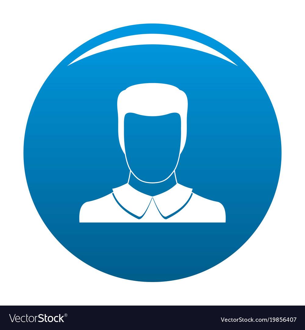 Male avatar icon blue