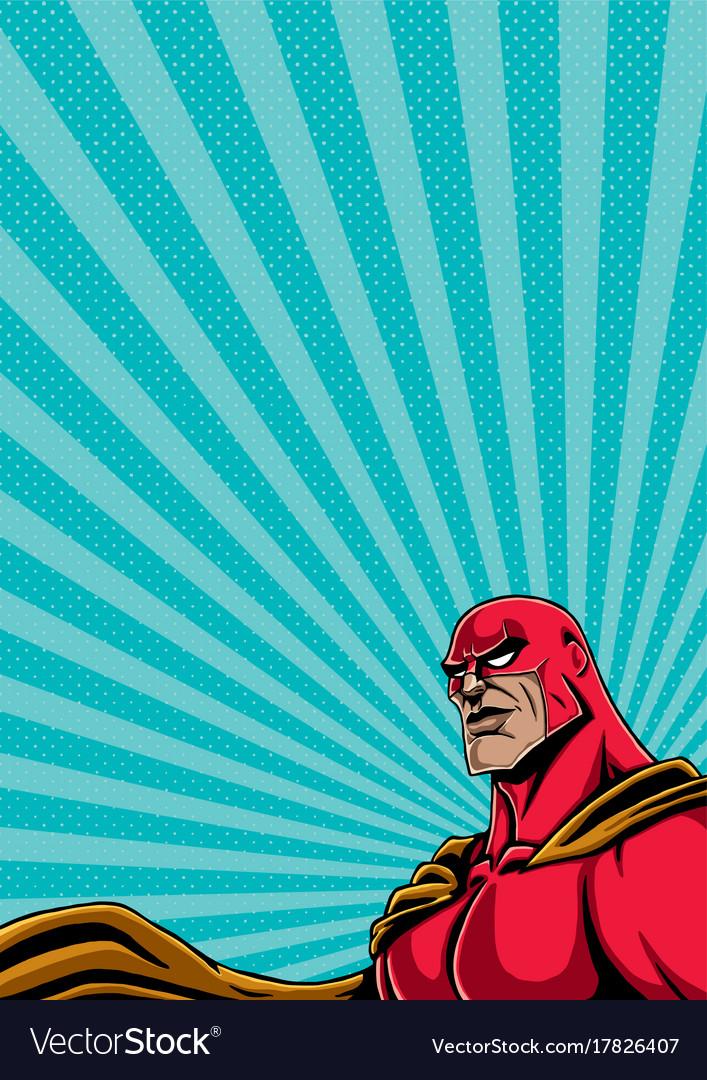 Superhero portrait 2 vector image