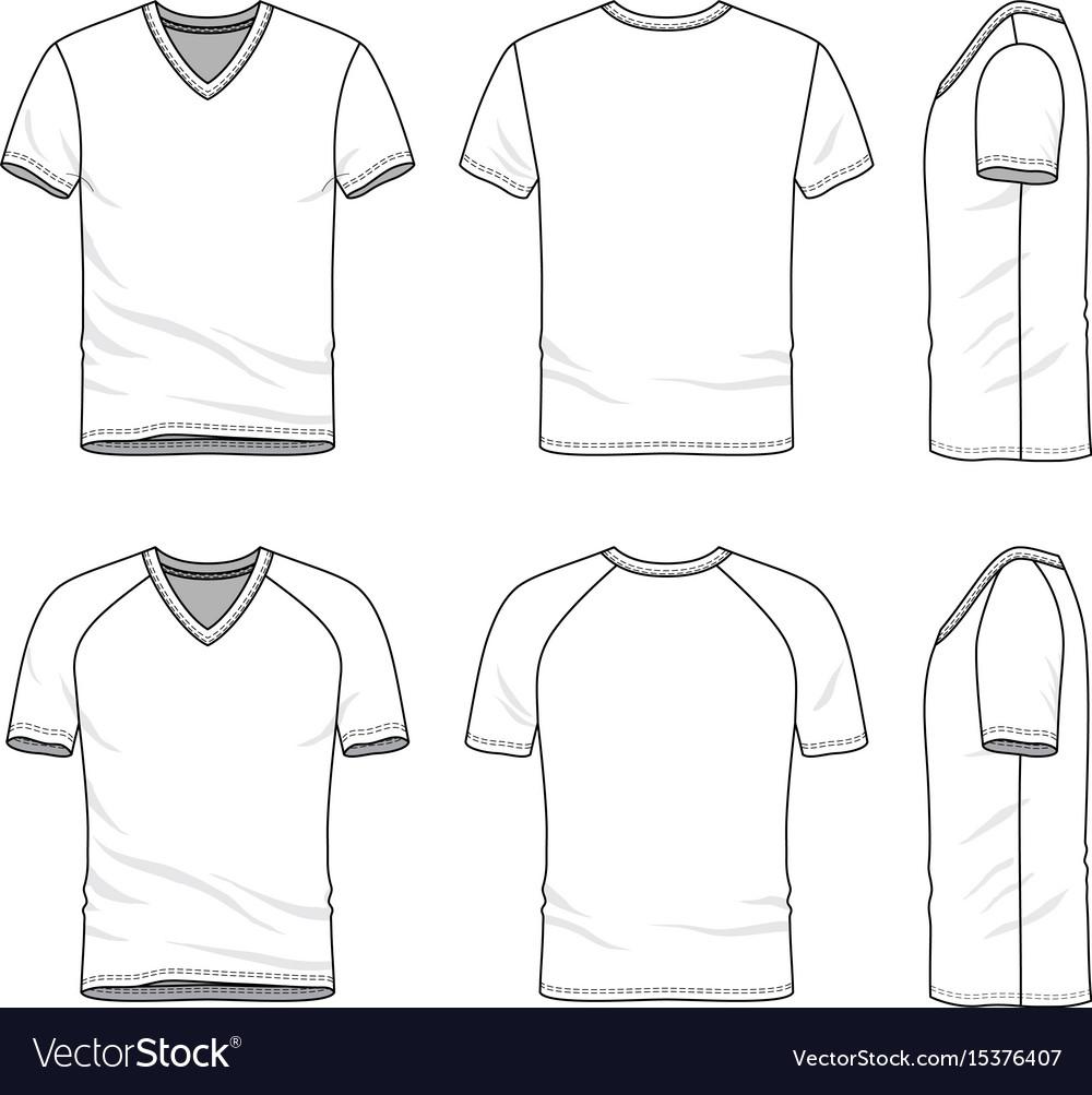 Templates Blank T Shirt Royalty Free Vector Image