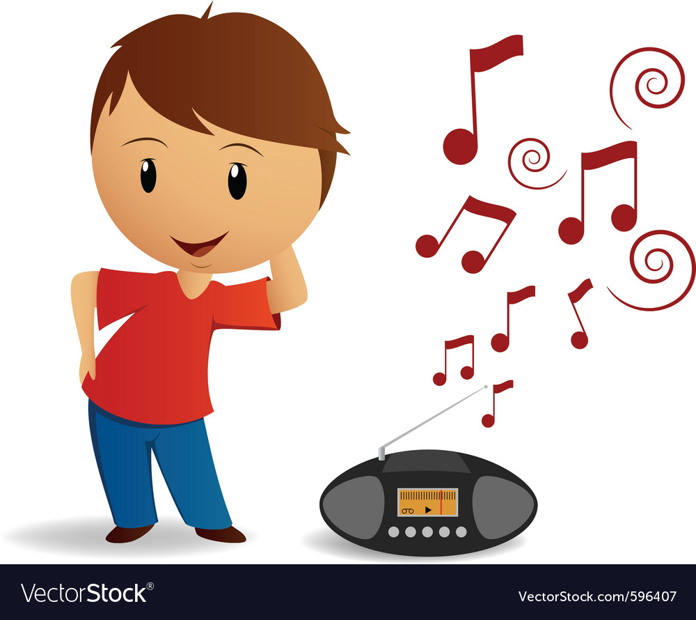 Young boy dance vector image