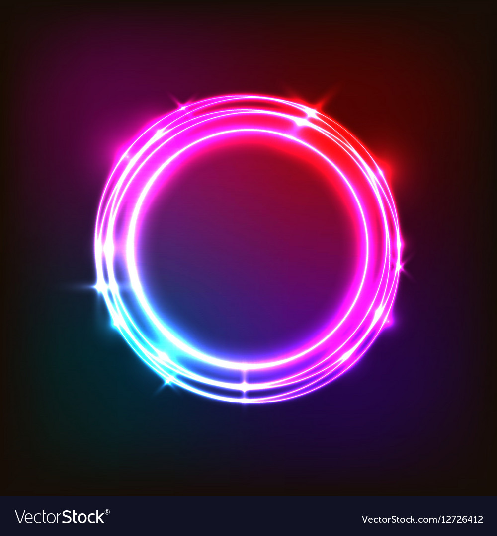 Abstract Neon Background With Colorful Circles Vector Image