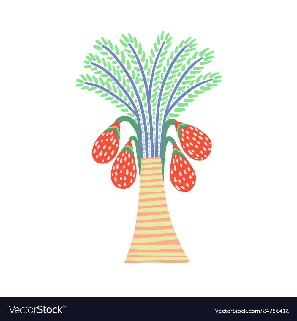 Decorative palm tree in egyptian style floral