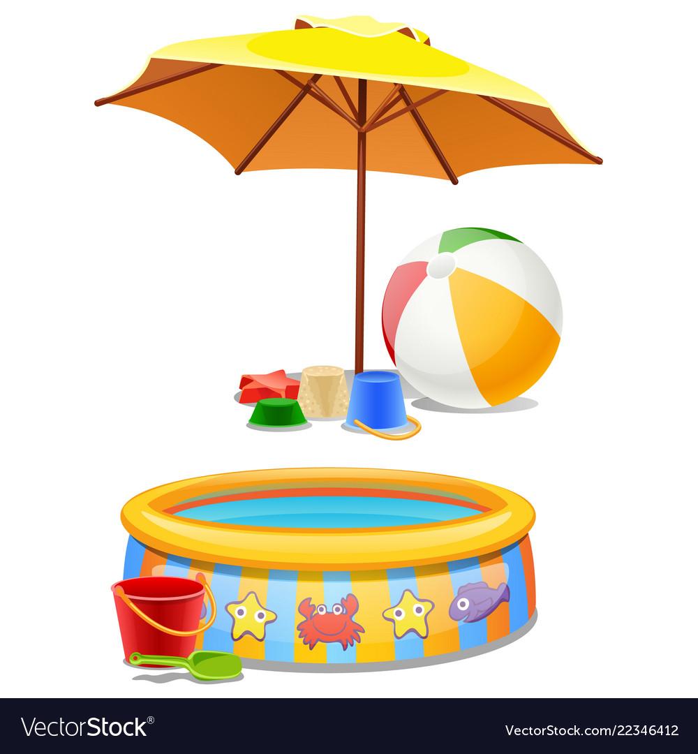 Kids play set under sun or on beach