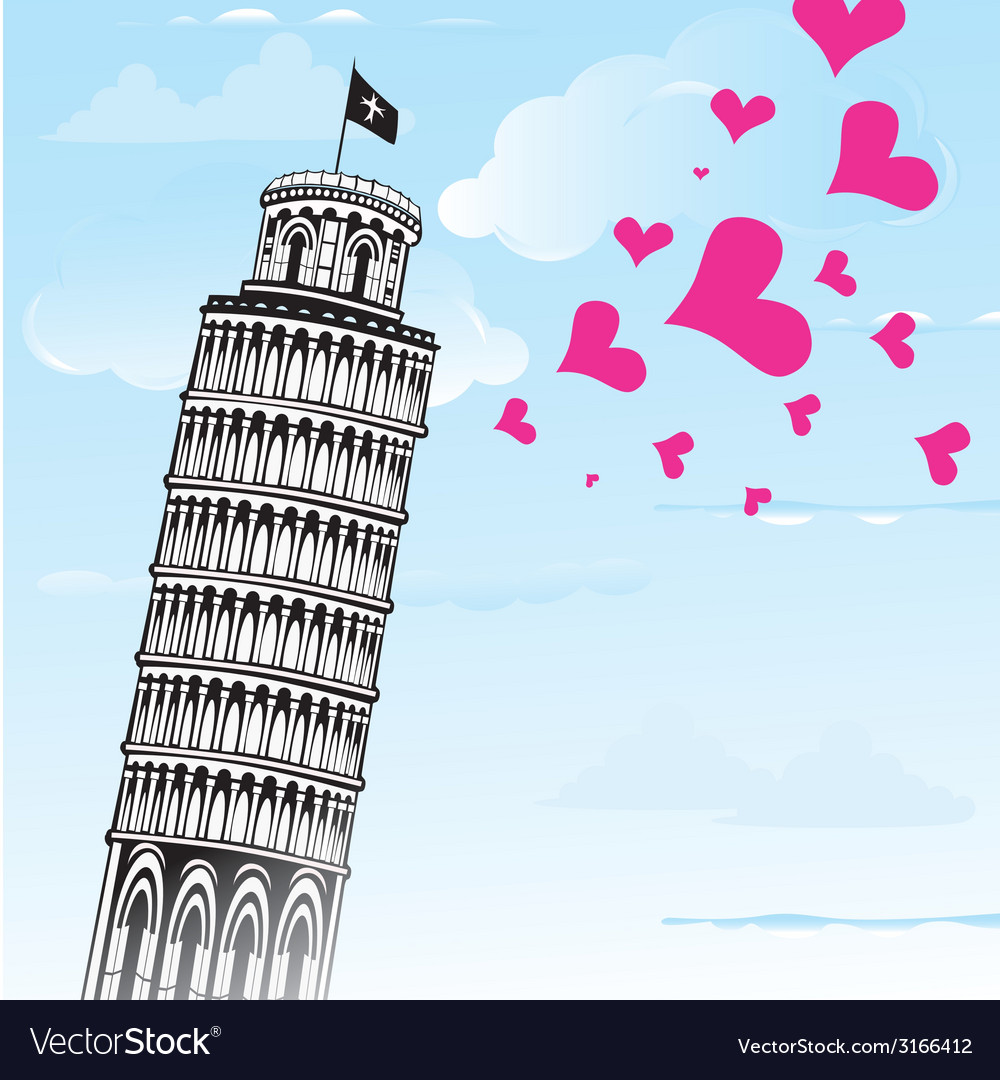 Love to italy pisa tower