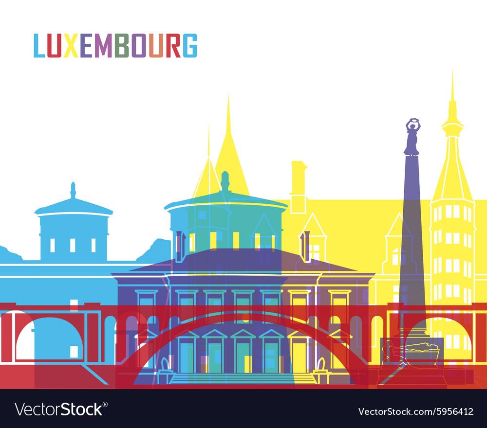 Luxembourg skyline pop
