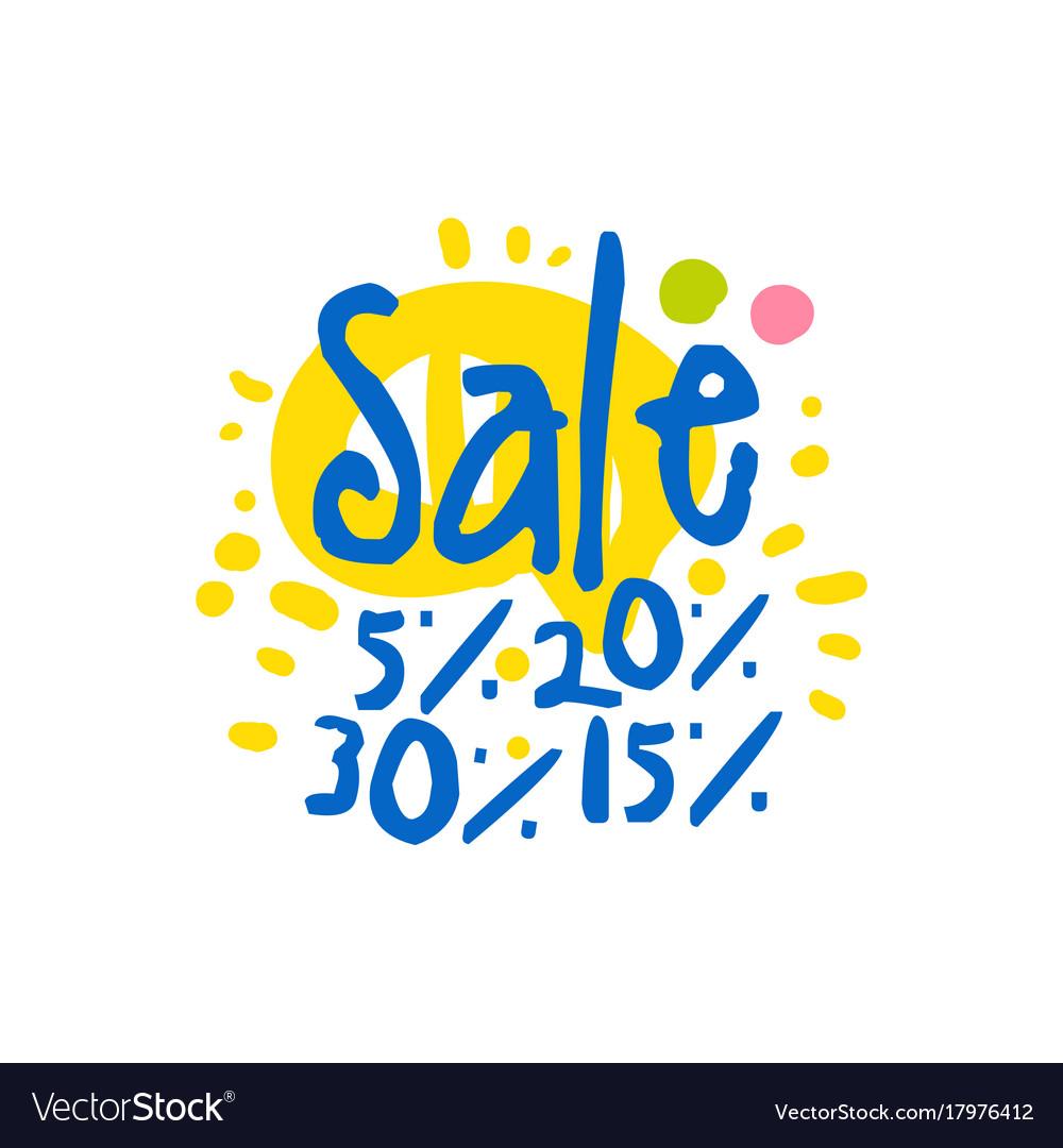 Sale 5 15 20 30 percent off logo template