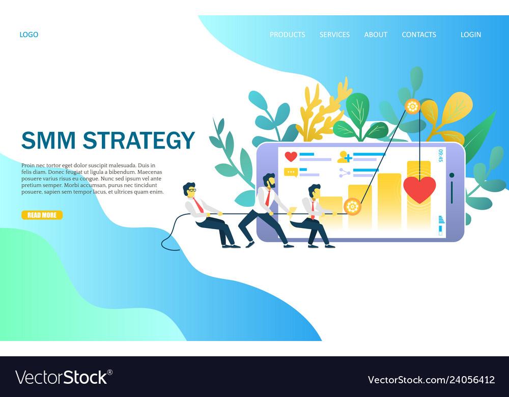 Smm strategy website landing page design