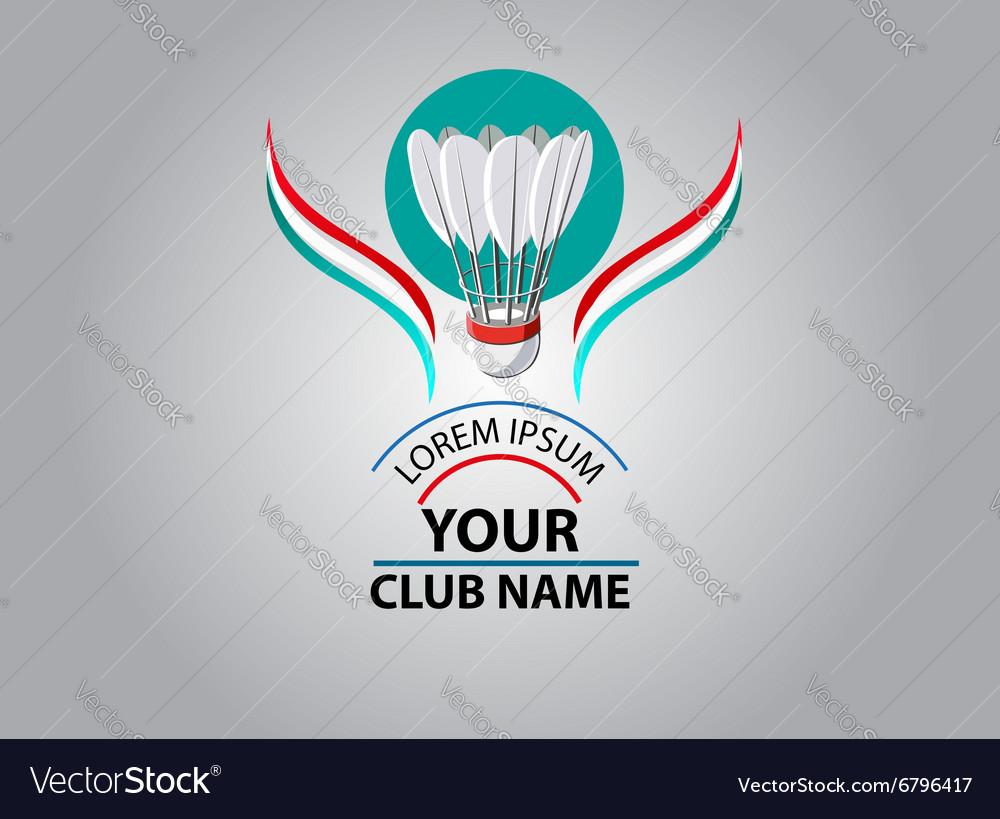 Badminton Club logo vector image