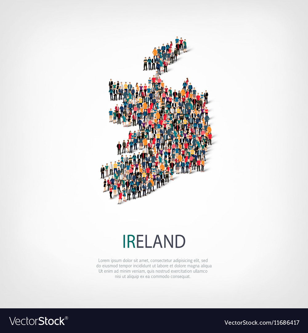 Country Of Ireland Map.People Map Country Ireland