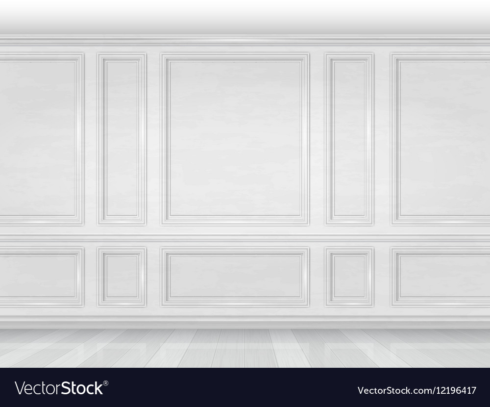 White Wooden Wall Panel Royalty Free