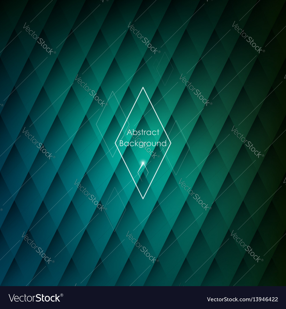 Abstract rhombic green background for your designs