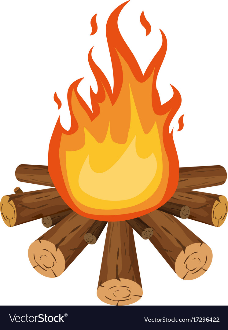 bonfire icon cartoon style royalty free vector image rh vectorstock com bonfire cartoon images bonfire cartoon pics