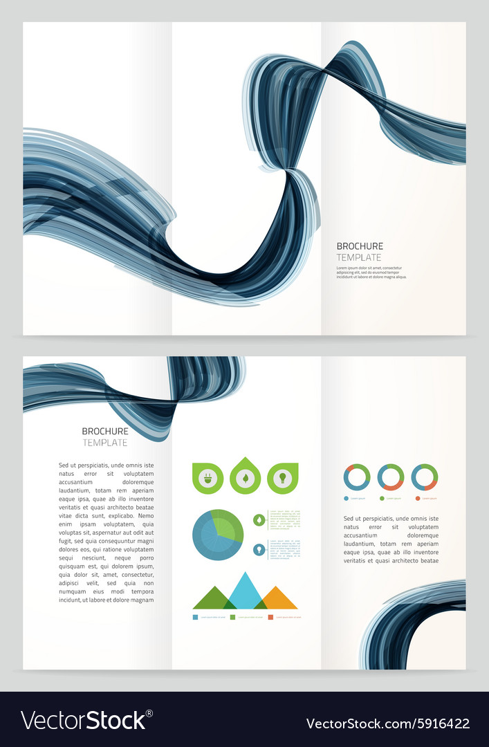Brochure template design with vector image