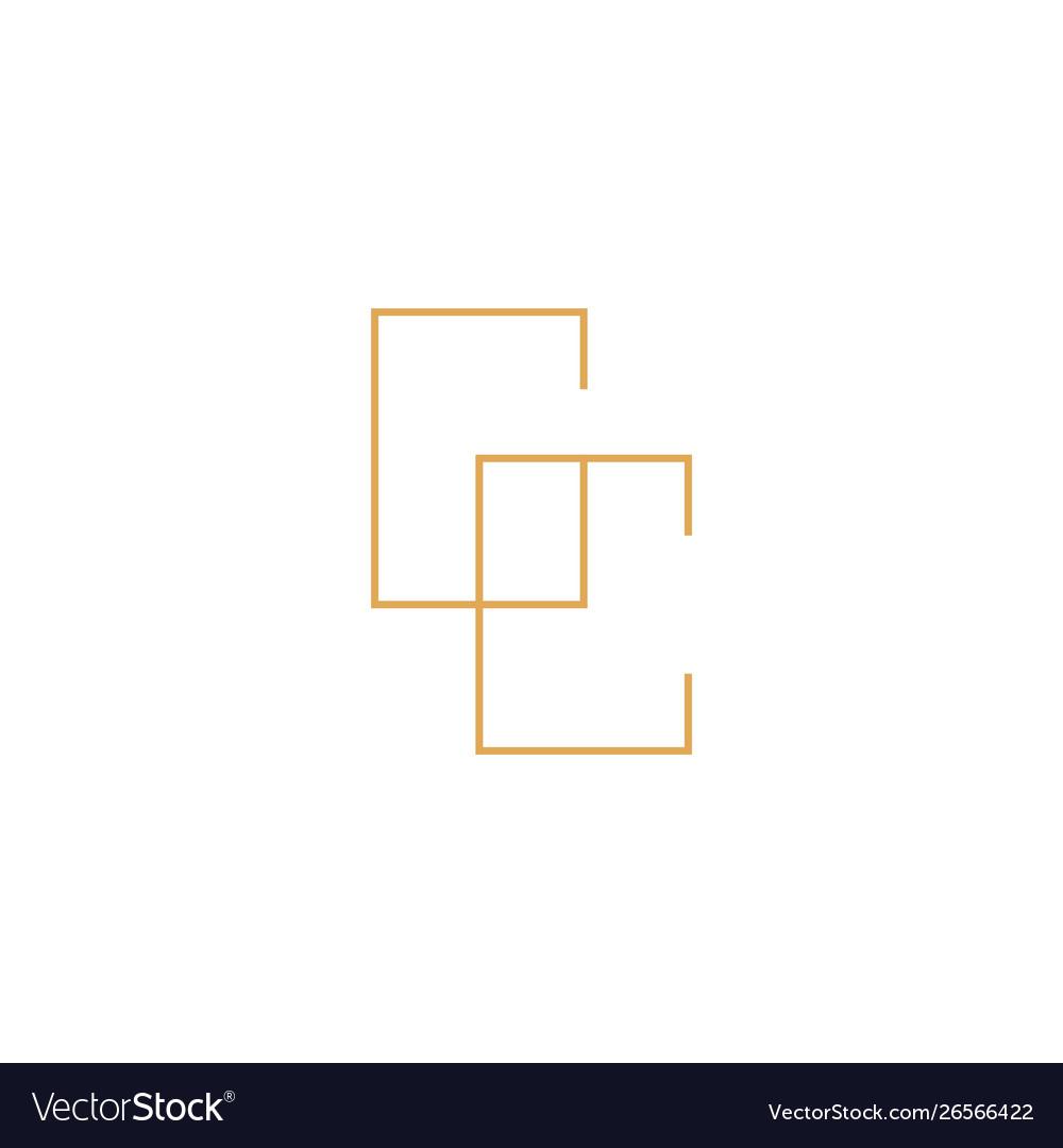 Gc monogram lettermark logotype logo icon