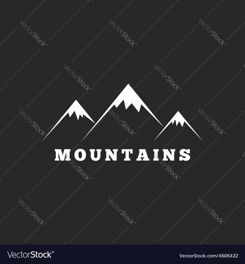 Mountains logo travel or tourism icon black and