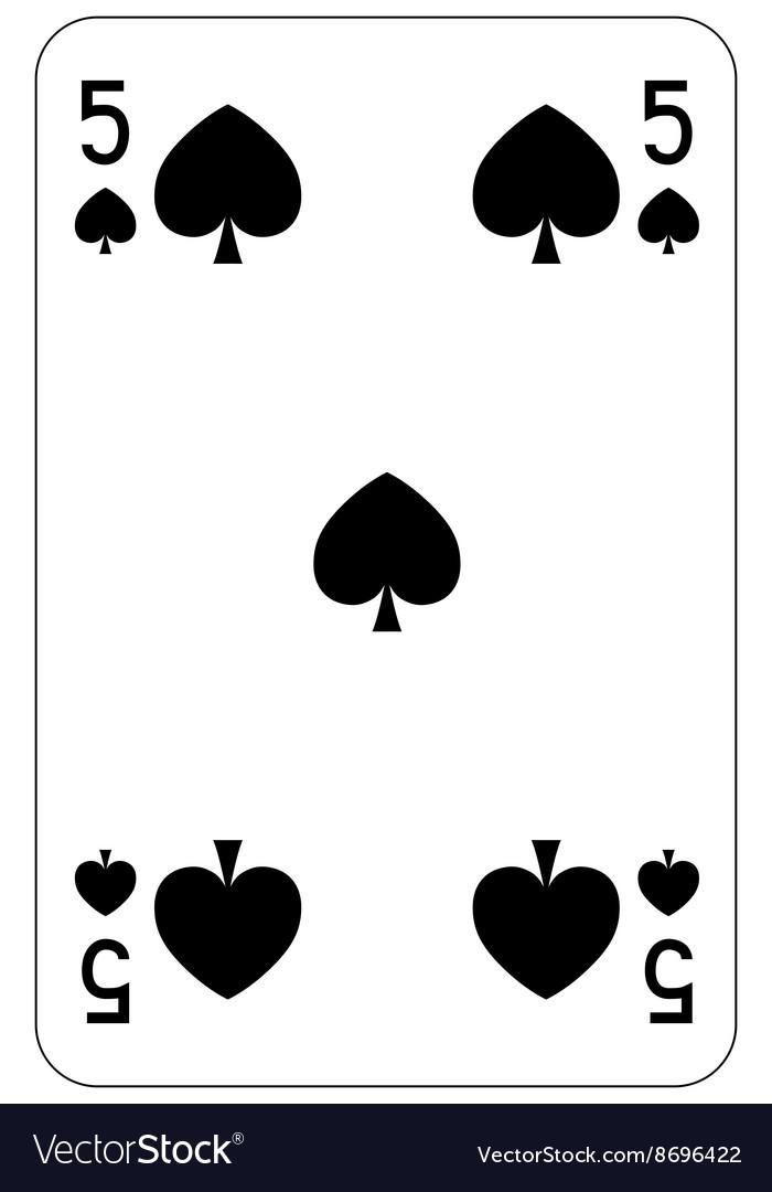 Poker playing card 5 spade