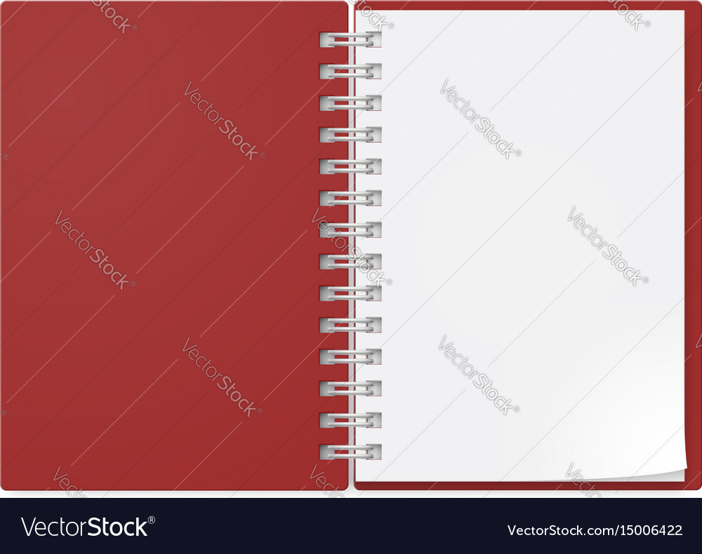 Realistic notebook on white background design