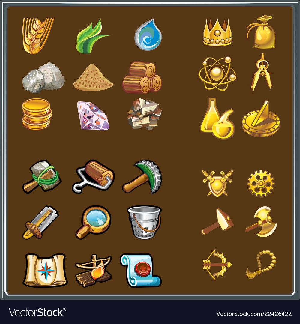 Resources for game various elements the