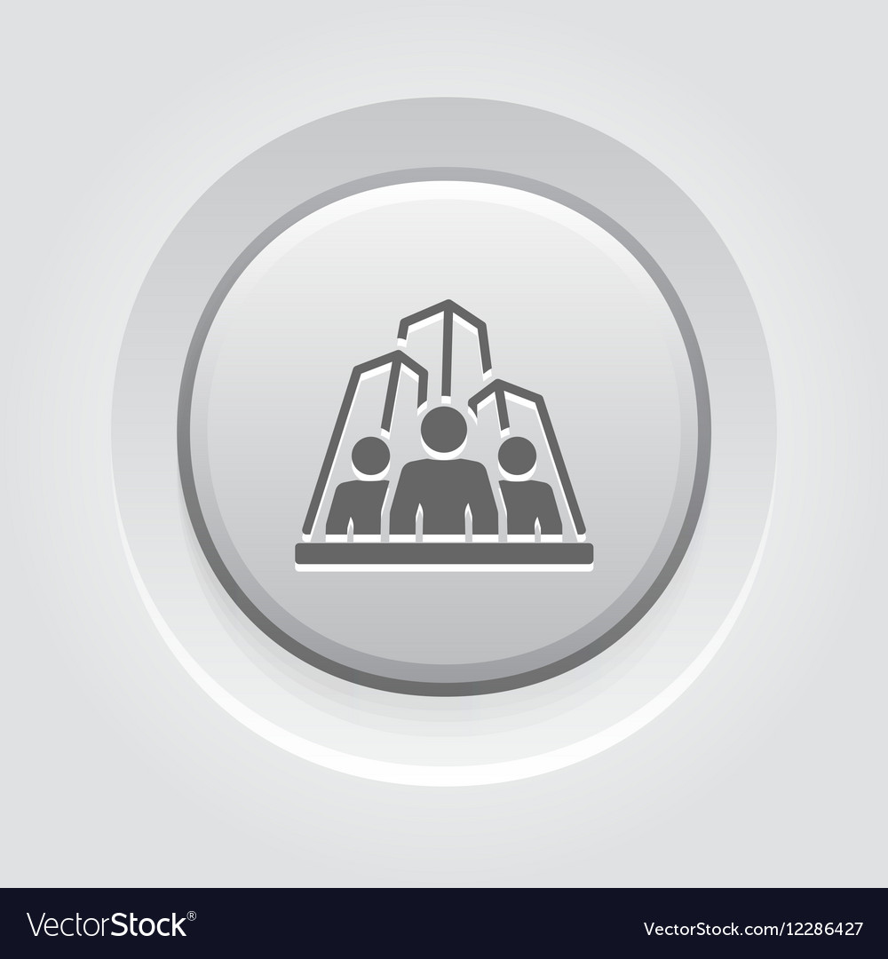 Business Team Icon Grey Button Design