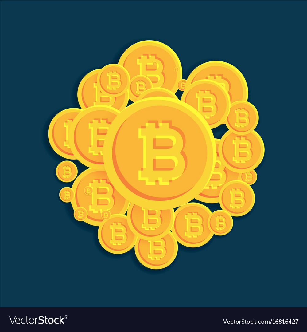 Crypto bitcoins digital currency coins background