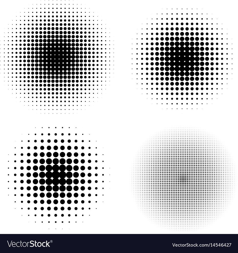 Halftone circle gradient doted gradient
