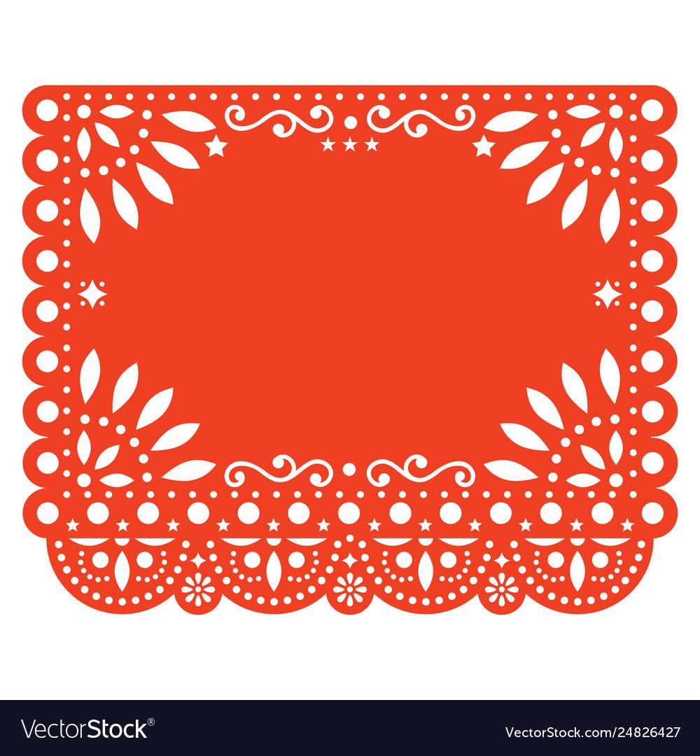 Papel picado floral template design