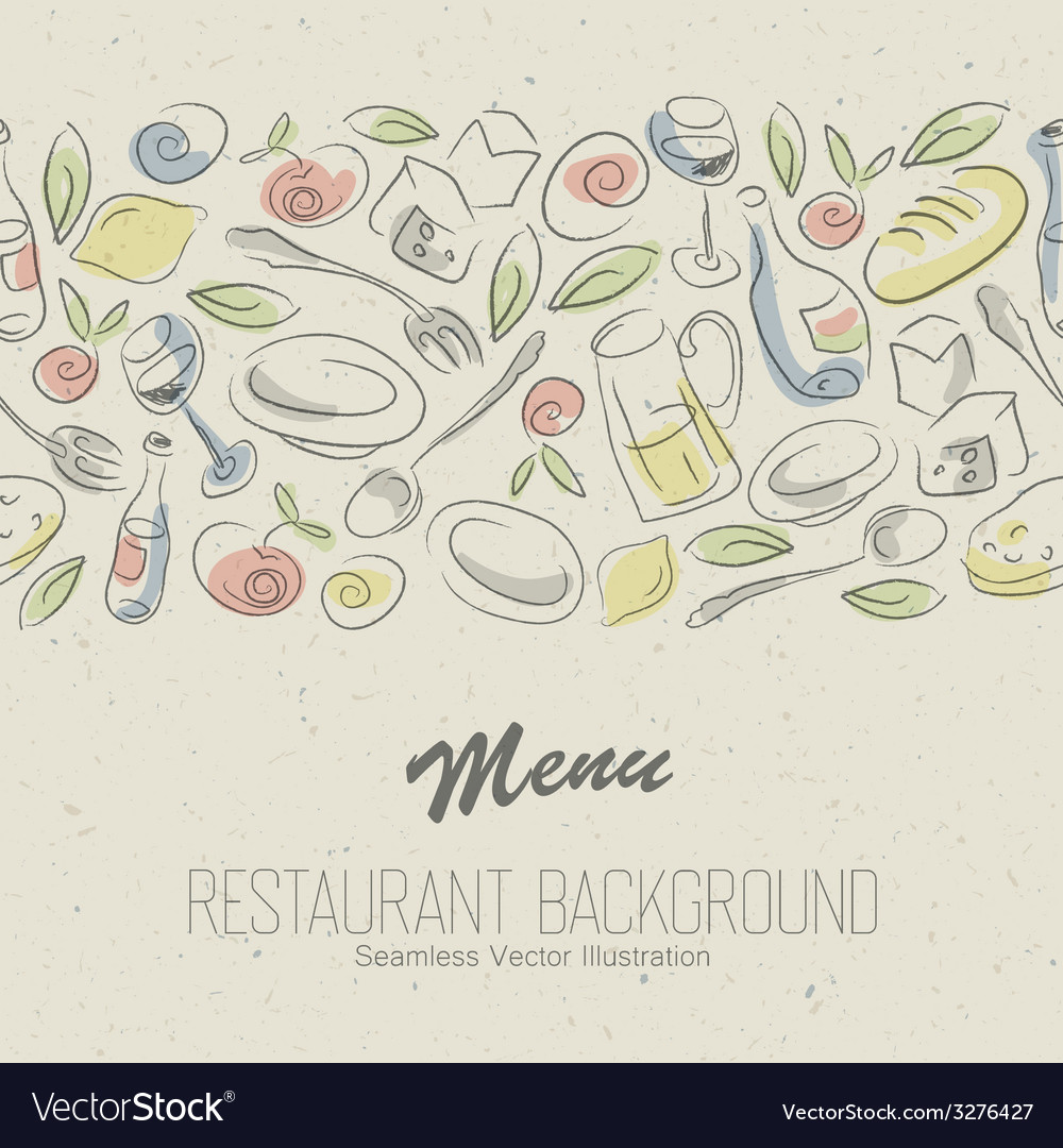 Restaurant menu elegant