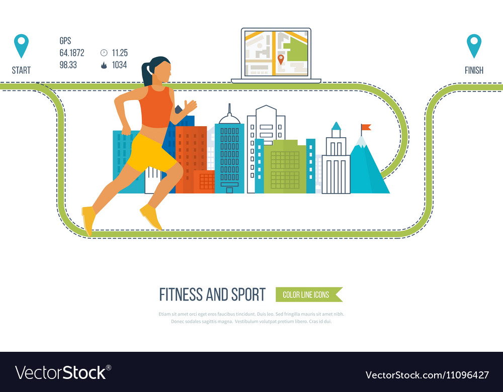 Running woman Healthy lifestyle fitness
