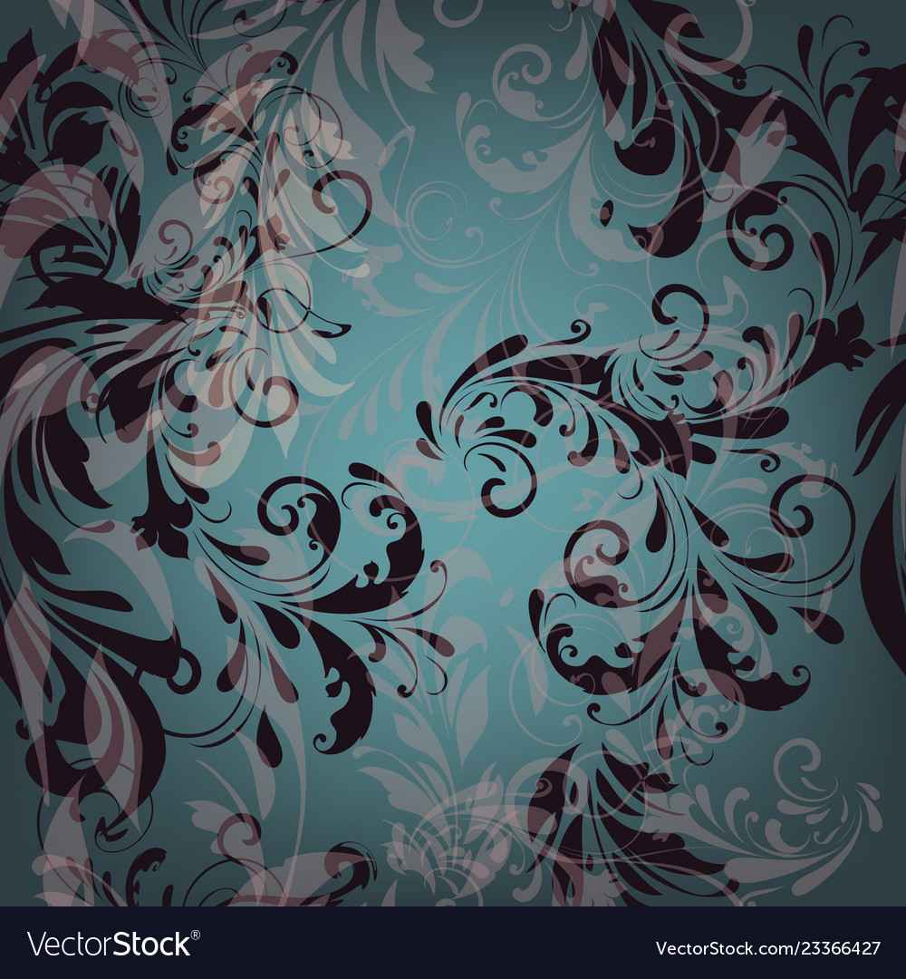 Seamless pattern for wallpaper design with florals