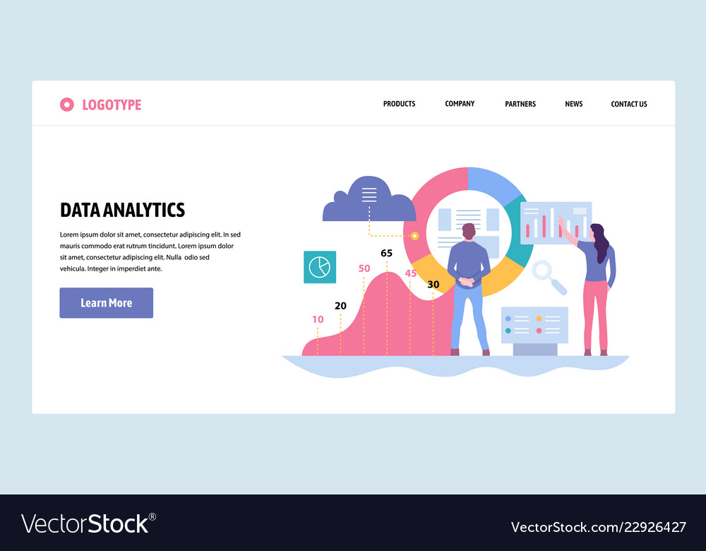 Web site gradient design template data