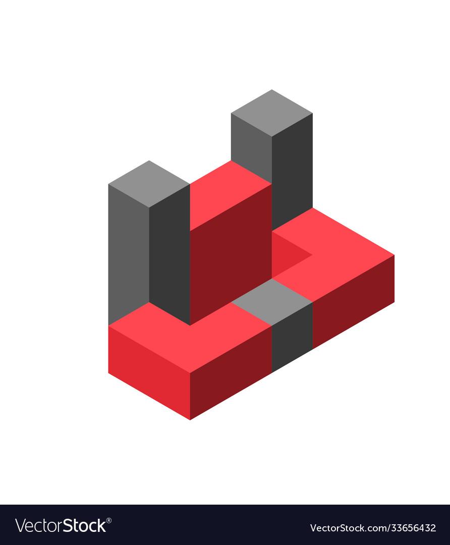 Abstract cube logo for design creative