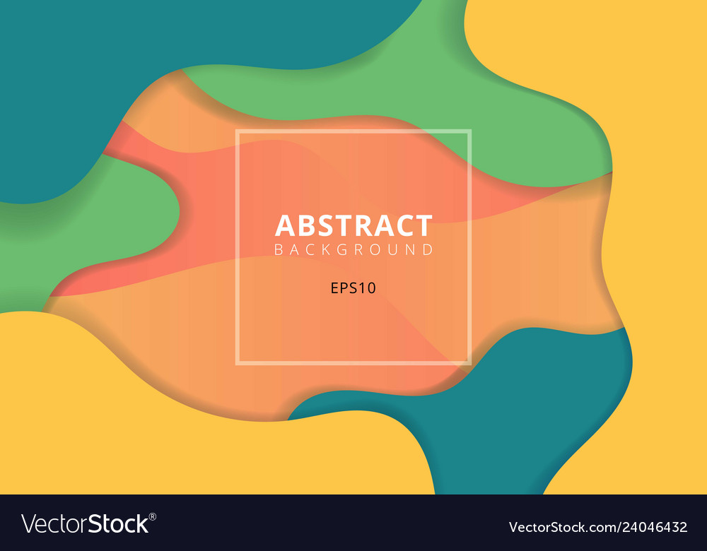 Abstract wavy geometric dynamic 3d colorful