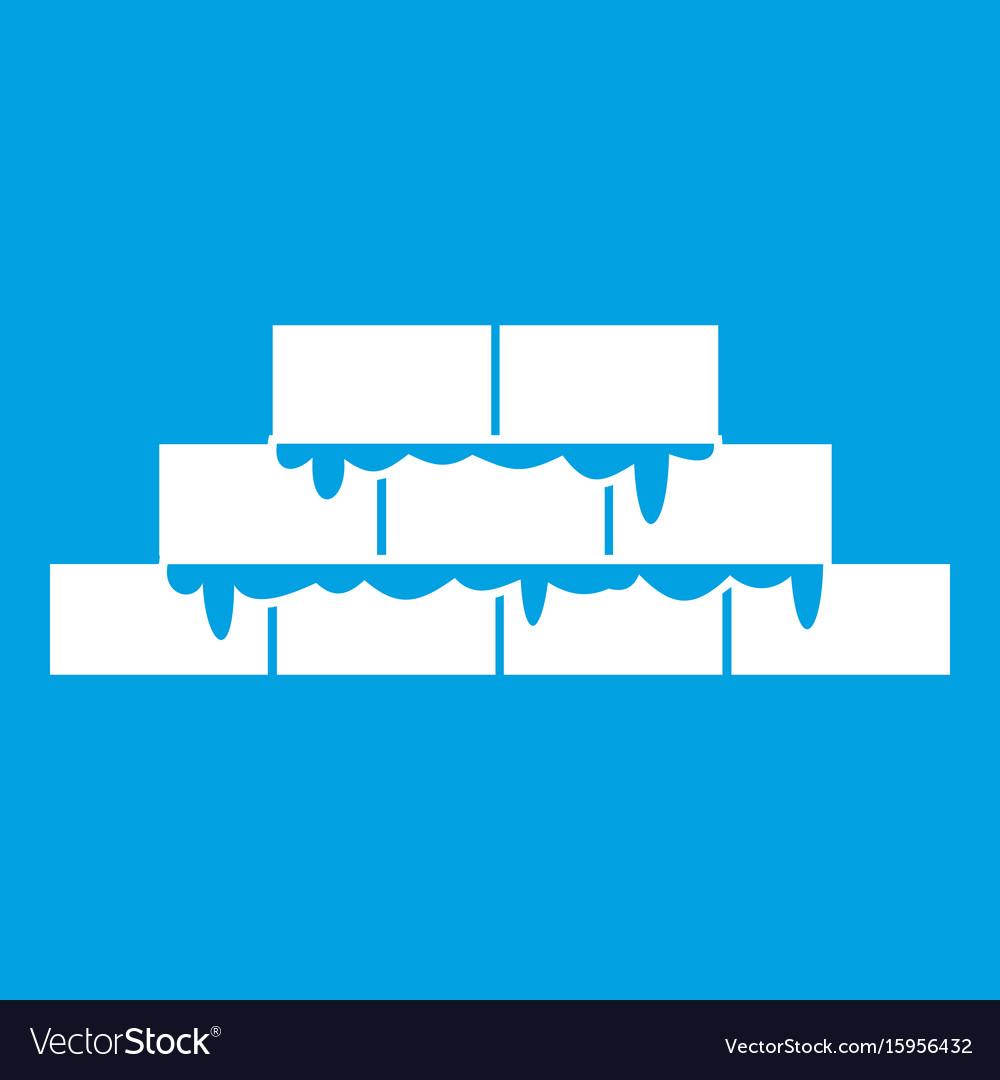 Brickwork icon white