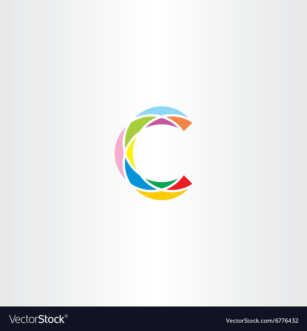 Colorful logo letter c logotype c sign icon