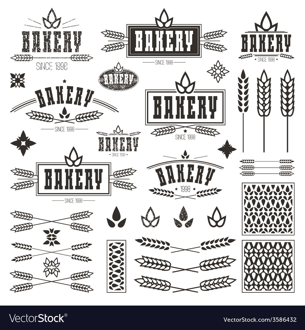 Design elements and logo for bakery