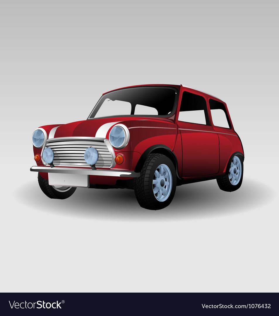 Mini red car vector image
