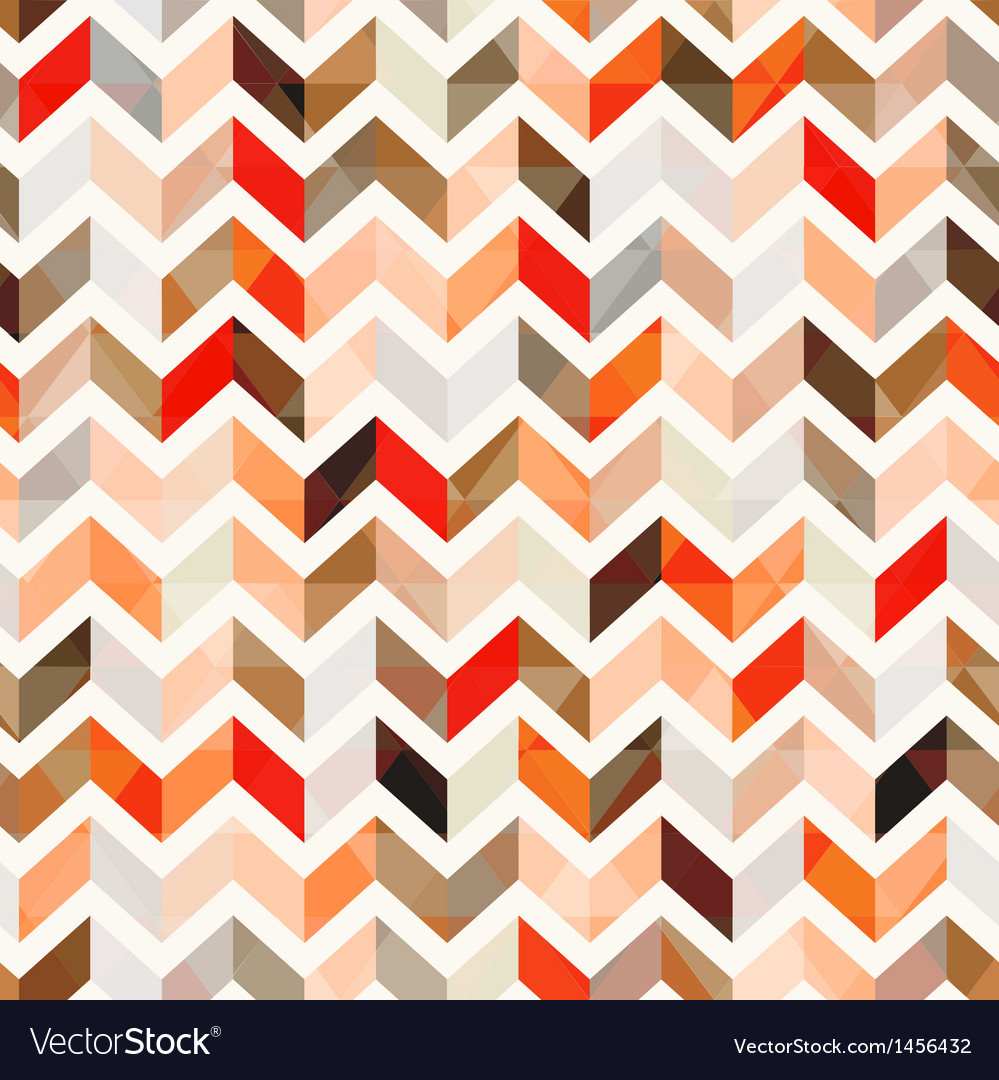 Seamless orange herringbone background vector image