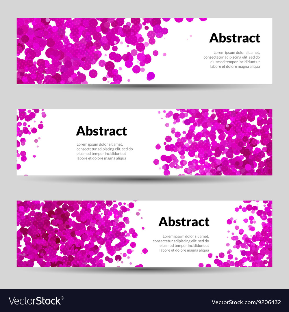 Set of Horizontal Poster Banners Templates