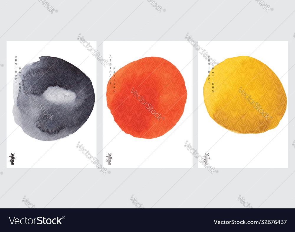 Abstract background with japanese wave pattern