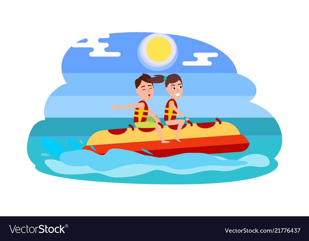 Banana boat summer activity