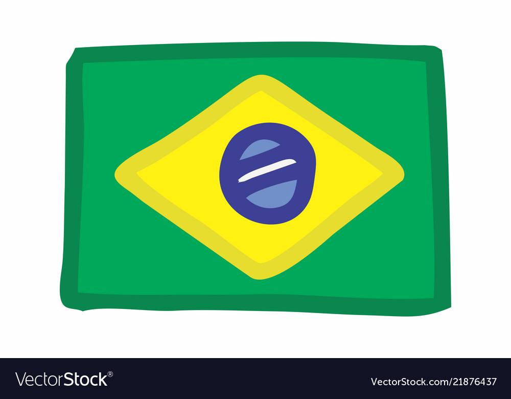 Brazilian flag freehand