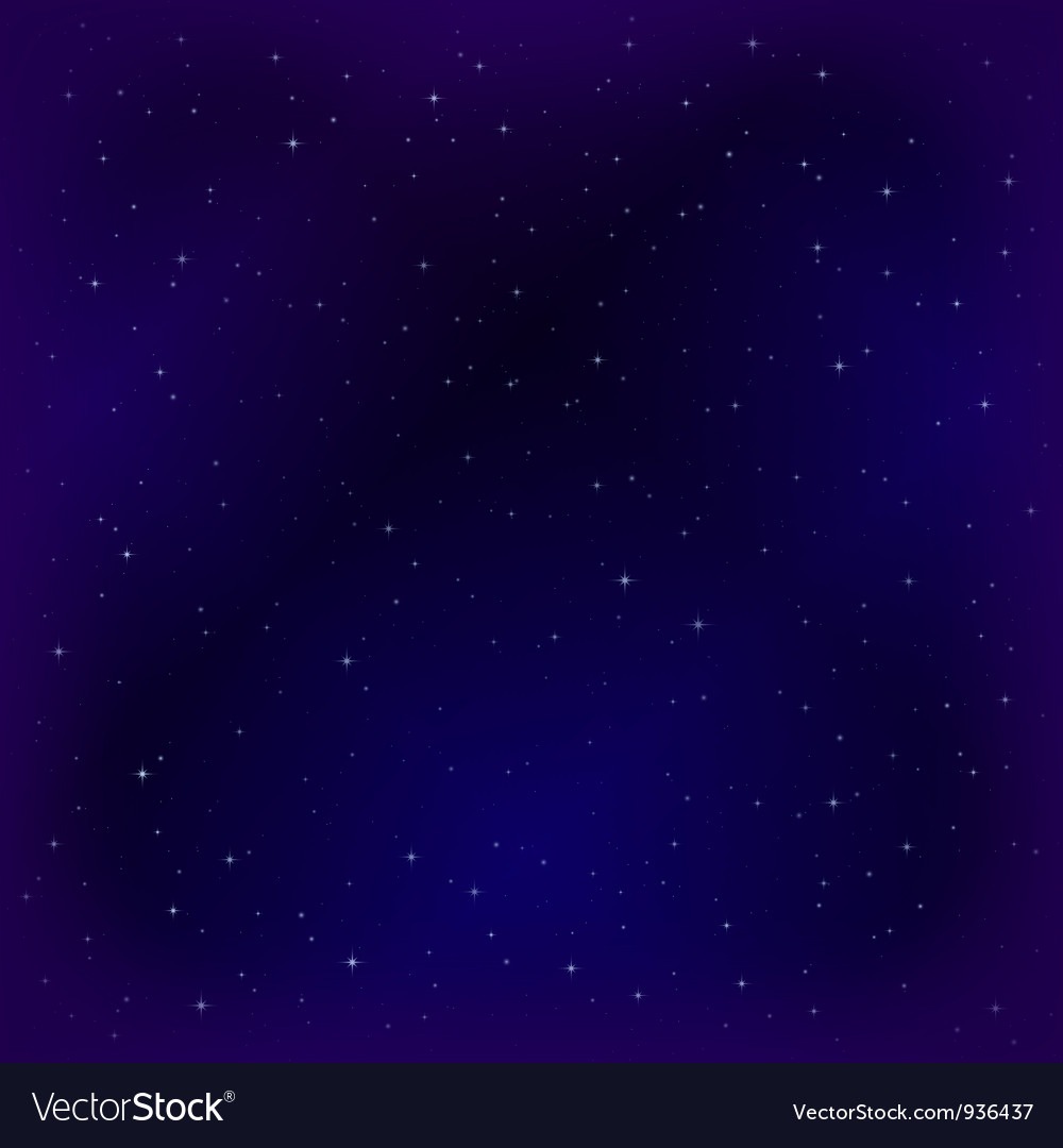 Empty space with stars