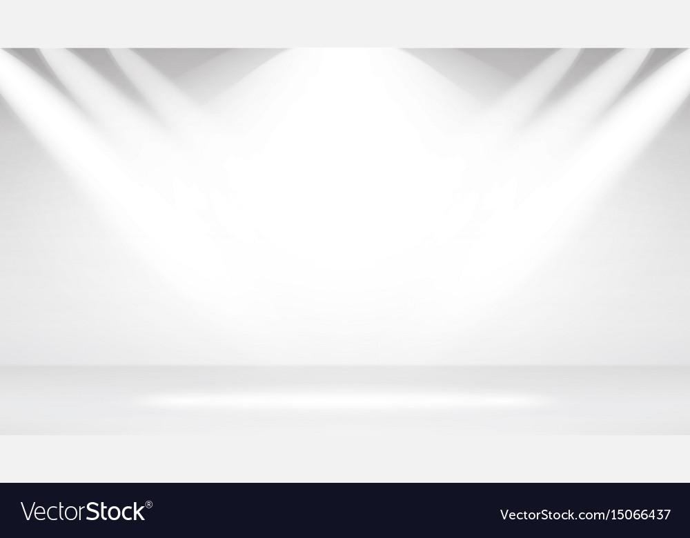 Empty white photo studio interior background