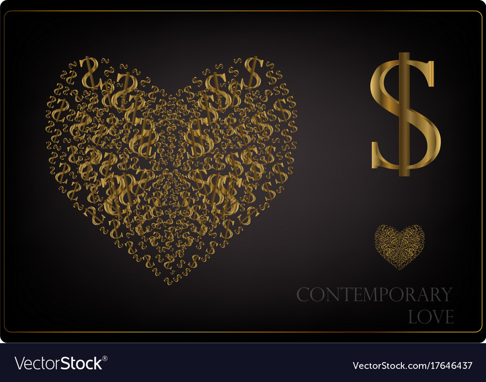Love in the modern world vector image