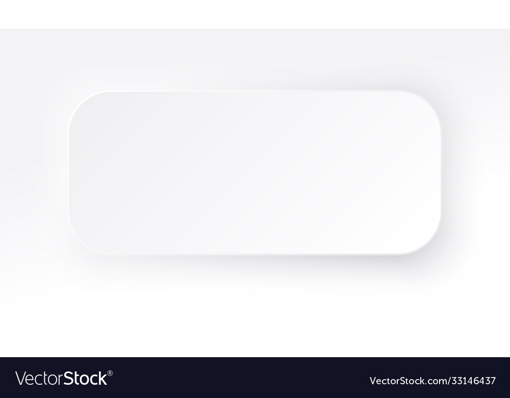 Neumorphic rectangle blank banner copy space