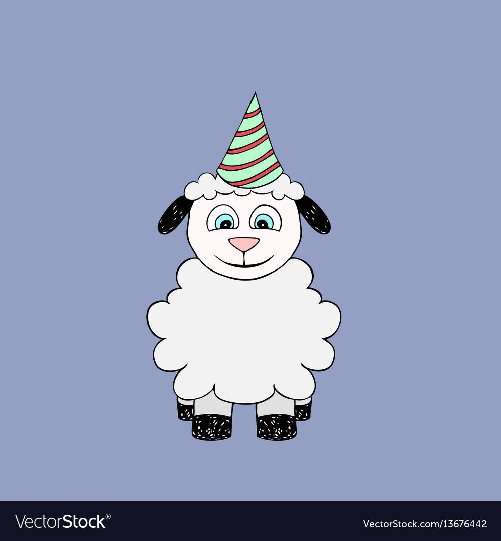 Baby lamb cartoon vector image