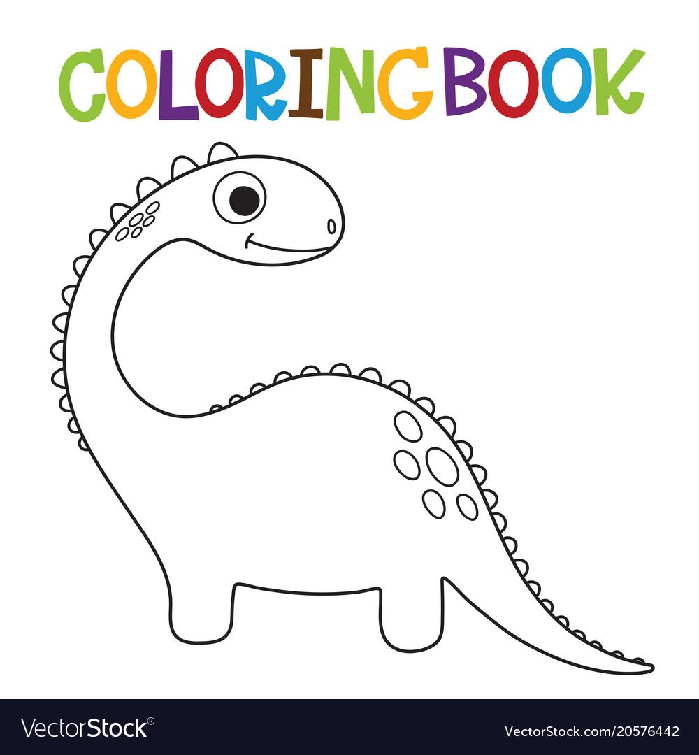 - Cute Dino Coloring Book Royalty Free Vector Image