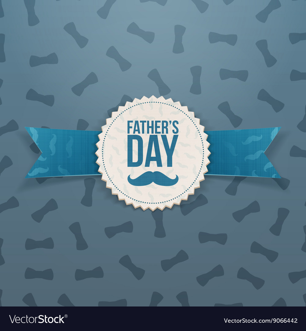 Fathers Day Banner with Ribbon and Text